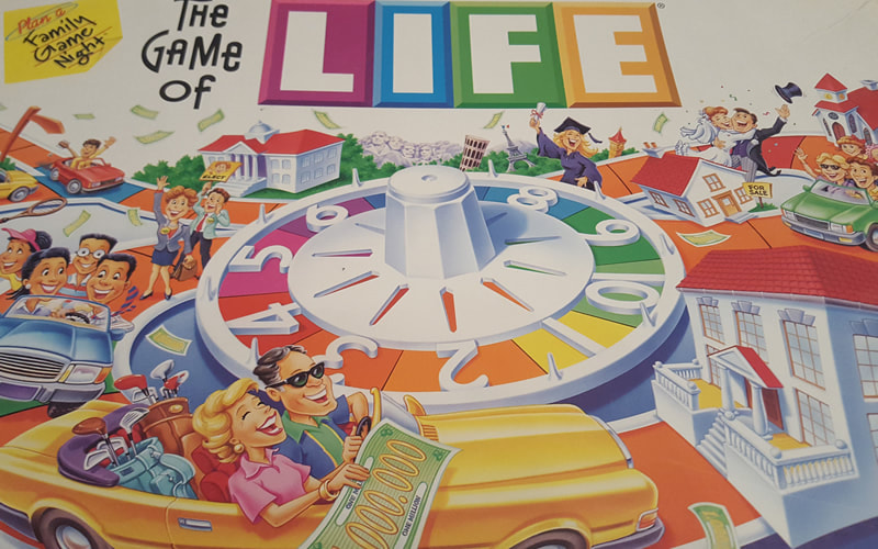 Picture of board game The Game of Life